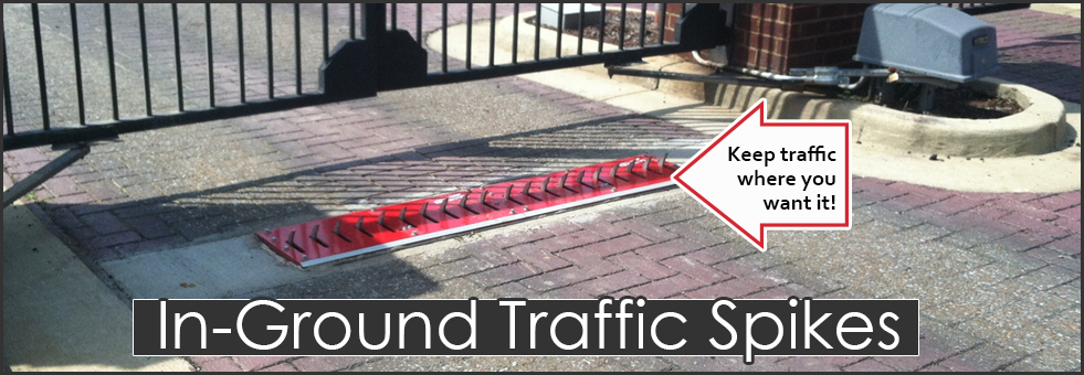 In Ground Traffic Spike Strips