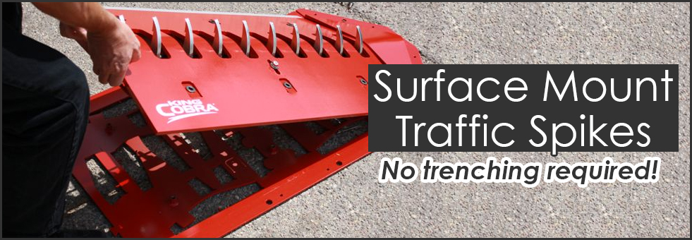 Surface Mount Traffic Spike Strips